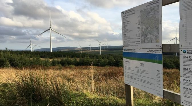 Wales' largest onshore wind farm was officially opened