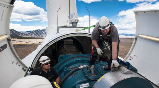 Wind energy and solar power jobs are the two fastest growing jobs in America