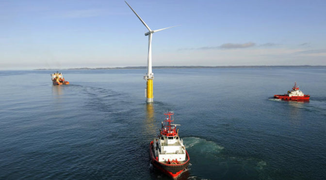 The world's first floating wind farm is being opened