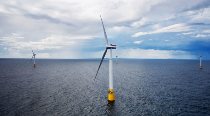 A breakthrough for offshore wind energy: world's first floating wind farm opens in Scotland