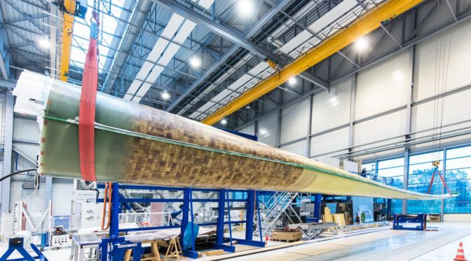 Wind energy research at DLR – First innovative DLR rotor blade headed for load testing
