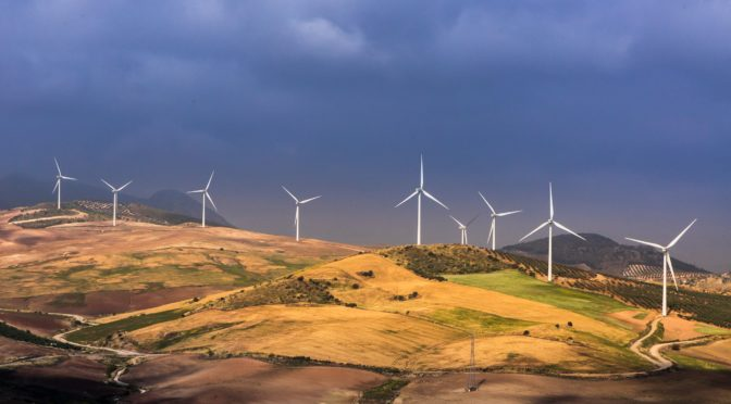 Increase in the contribution of wind energy to Spain