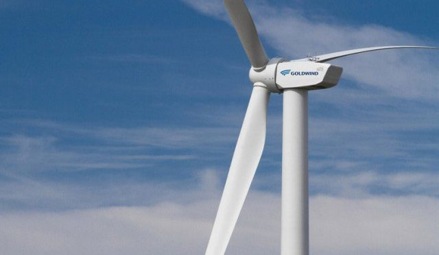 Wind energy in Canada: Goldwind's wind turbines for a wind farm