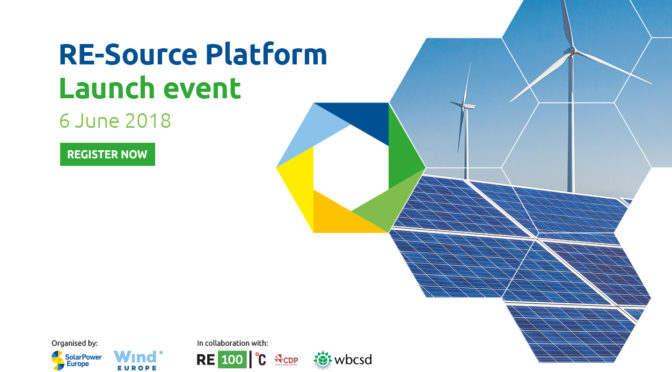 Launch event announced for RE-Source Platform: bringing together renewable energy buyers and sellers