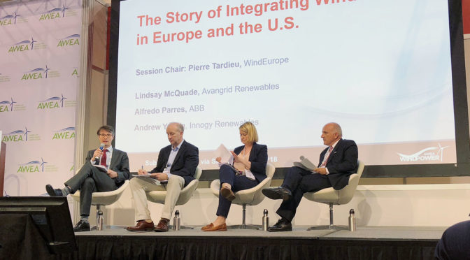 WindEurope sparks debate on wind energy integration at AWEA 2018