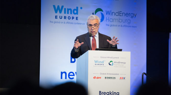 Wind energy to become EU's largest power source well before 2030 according to IEA Executive Director