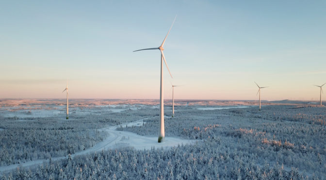 Wind energy in Sweden, Enercon's wind turbines for a wind farm