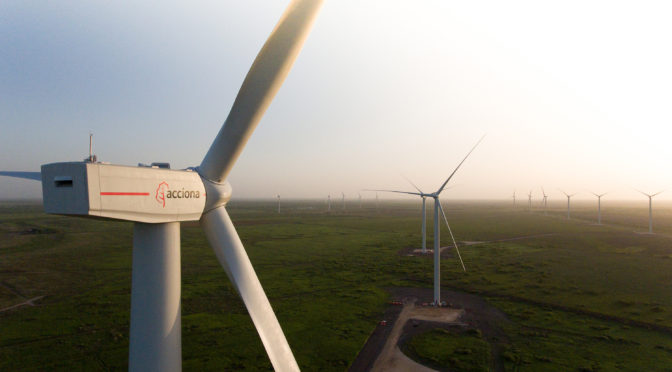 Wind energy in Texas, Acciona wind farm with Nordex wind turbines