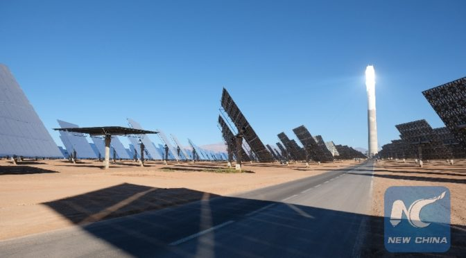 Chinese firm helps build world's largest concentrated solar power complex in Morocco's desert