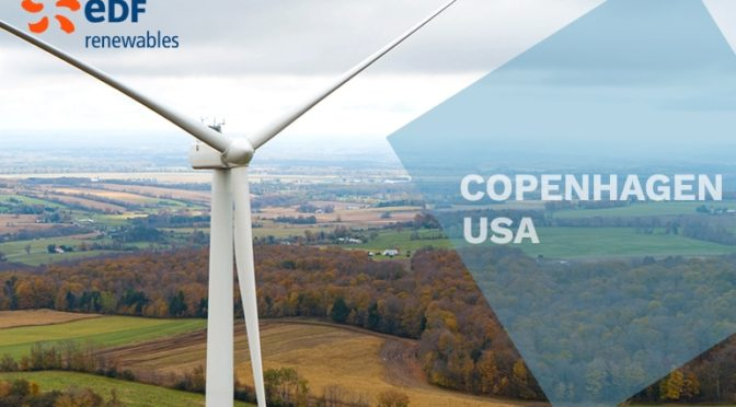 EDF Renewables announces Commercial Operation at Copenhagen Wind farm in New York