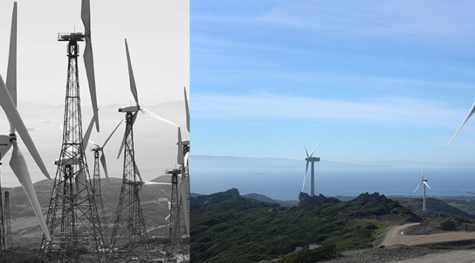 Wind energy in Spain: El Cabrito Wind Farm before and after being renovated