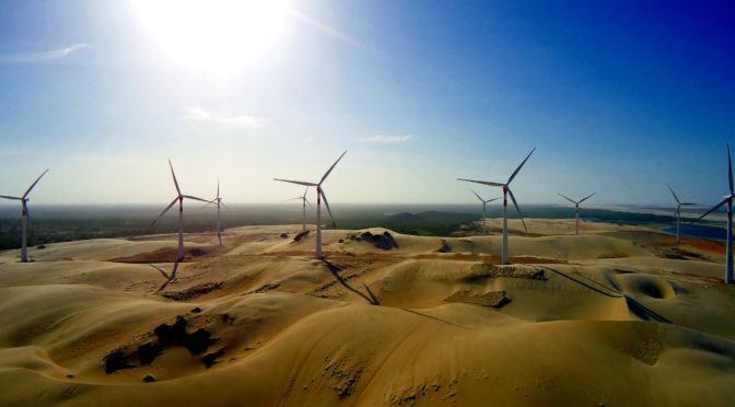 75% of Brazil's new power comes from hydroelectric, wind energy and solar power