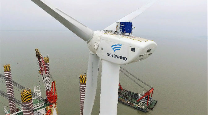 China hooked up another 20.59 GW of new wind energy capacity to its grid in 2018