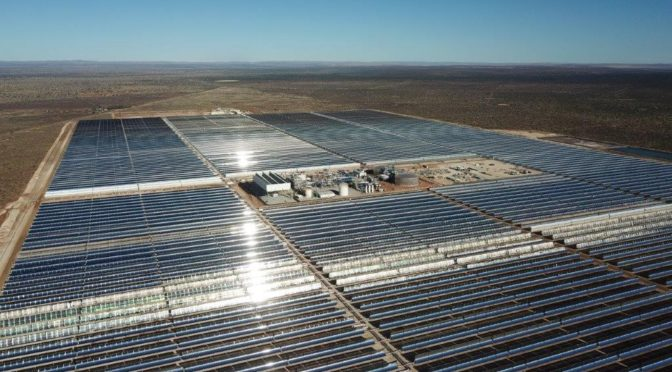Kathu Concentrated Solar Power (South Africa) constructed by Acciona and SENER came into commercial on 30 January