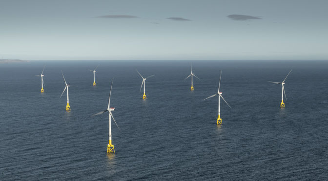 The final wind turbines have been installed at Scotland's largest offshore wind farm