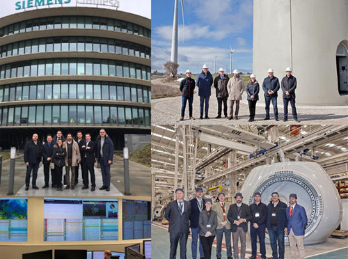 Representatives of the Popular Party and the IDAE visit industrial centers of the wind energy in Spain