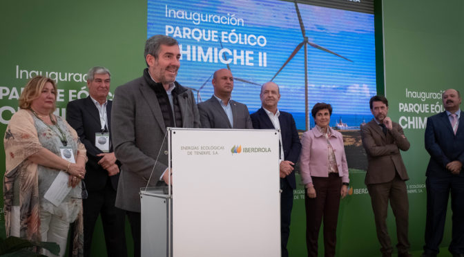 Iberdrola opens wind power plant in the Canary Islands