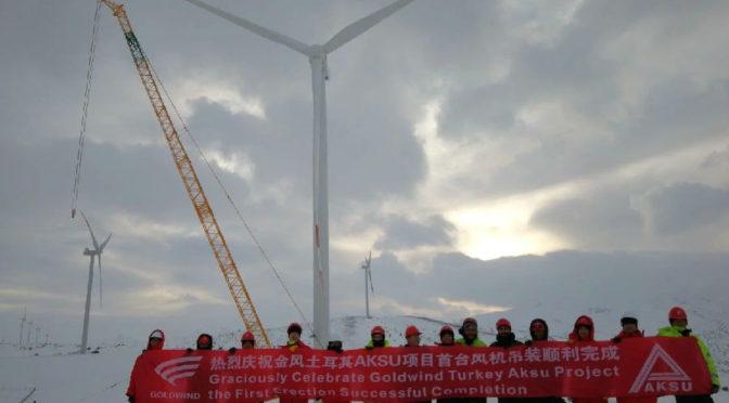 Wind energy in Turkey: Goldwind wind turbines for a wind farm