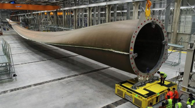 LM Wind Power manufactures wind turbine blade beyond 100 meters