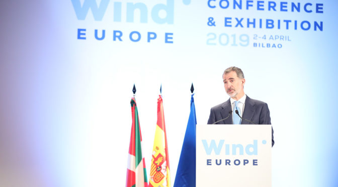 King Felipe VI of Spain: wind energy is transforming Spain and Europe