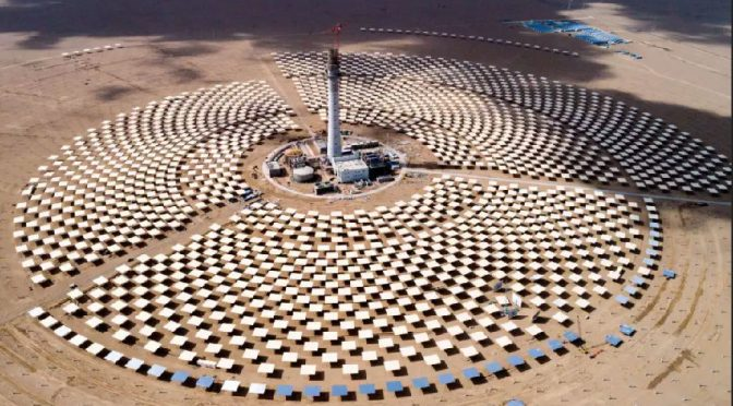 China Luneng Haixi 50 MW Tower Concentrated Solar Power project to operate end August