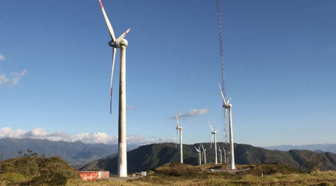 Ecuador tendered wind power and photovoltaic solar energy