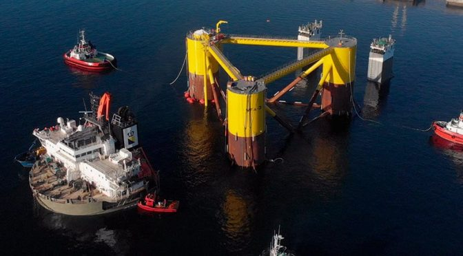 Wind power: Navantia begins construction of 20 jackets for a offshore wind farm in Scotland