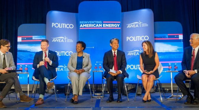 Amy Farrell opens Politico Electrification Revolution Event
