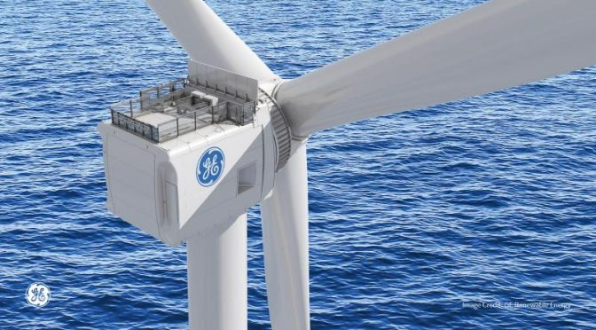 GE's Haliade-X offshore wind turbine prototype operating at 13 MW