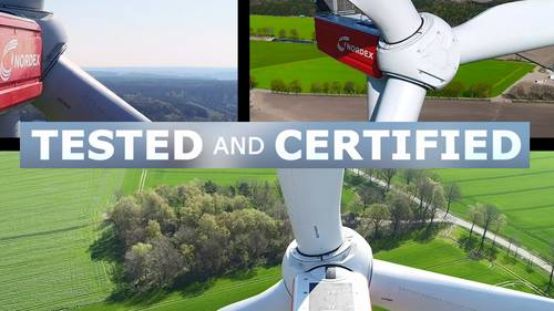 Nordex wind energy company certifies its wind turbines