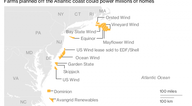 Developers Bid to Build Wind Farm Off Massachusetts