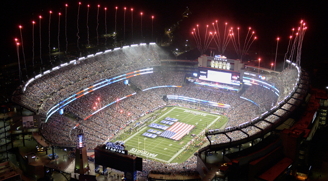 Enel turns Gillette Stadium green with wind energy
