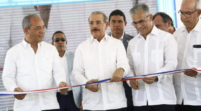 Danilo Medina attends the start of operations Matafongo Wind Farm