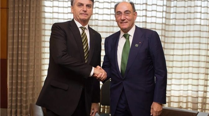 Galán to Bolsonaro: we will invest 6.6 billion euros in Brazil until 2022