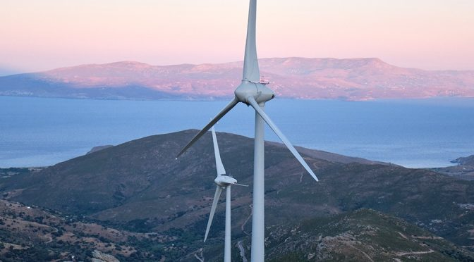 Wind energy in Greece: Kafireas wind farm complex has been inaugurated