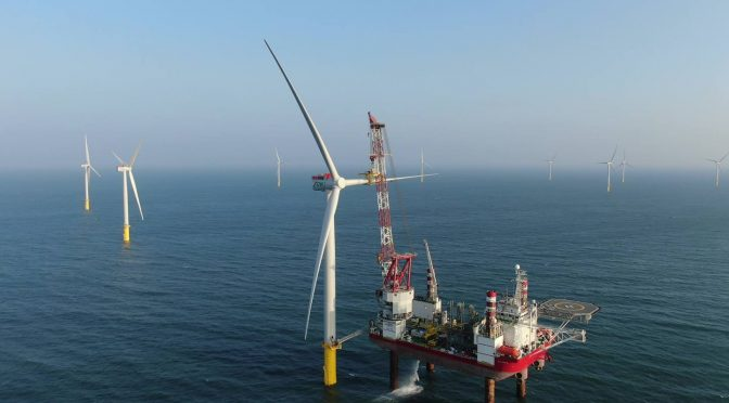 Final wind turbine installed at Taiwan's first offshore wind farm