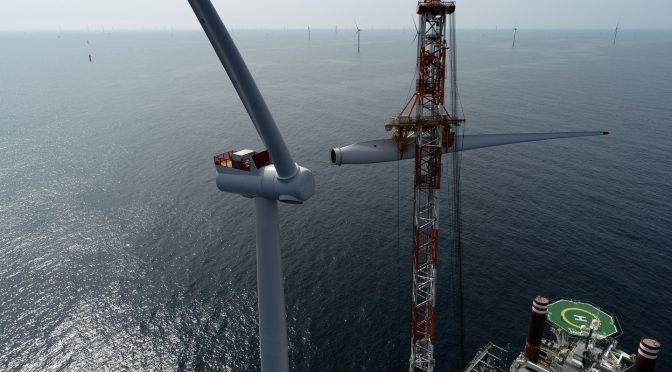 Final wind turbine installed on world's largest offshore wind farm
