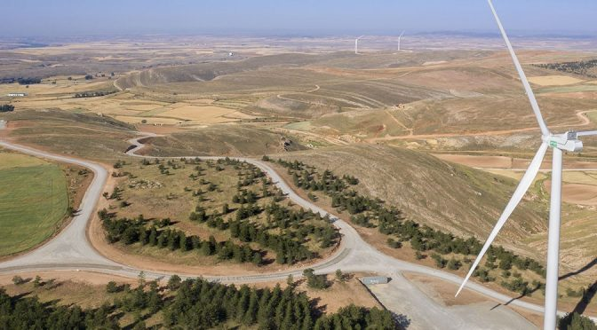 Wind energy in Spain, EGP connects Sierra Costera I wind farm