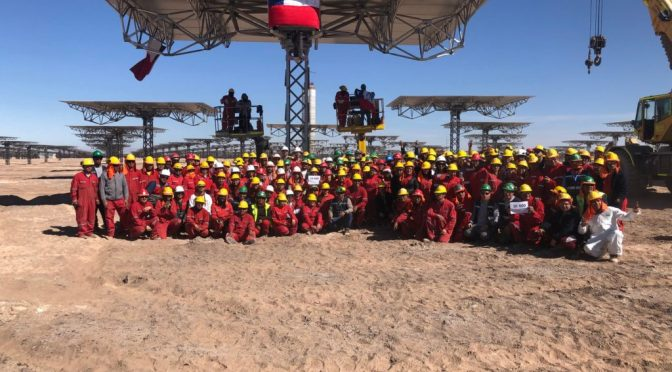 Cerro Dominador concentrated solar power project has culminated another important phase
