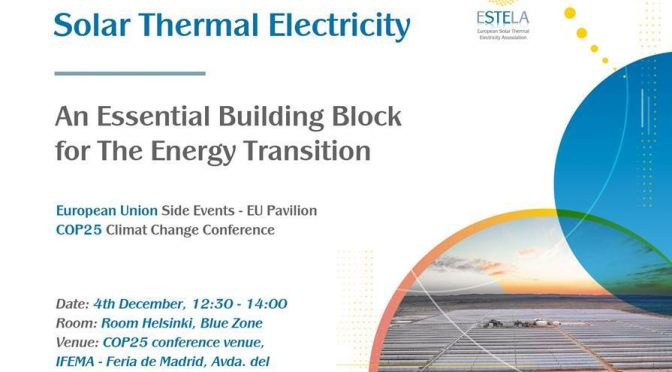 Solar Thermal Electricity: An Essential Building Block for The Energy Transition