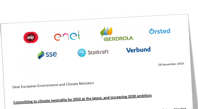 Energy companies call for a more ambitious 2030 climate target for the EU