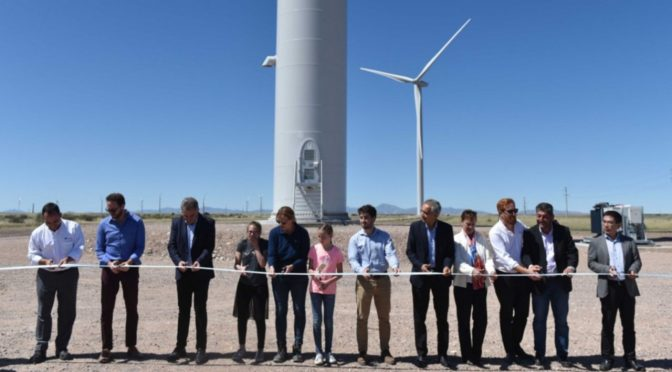 Wind energy in Argentina, inaugurated the García del Río wind farm