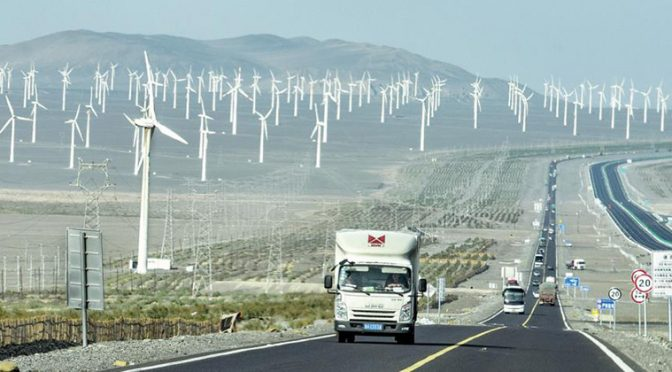 Northwestern China uses more wind power