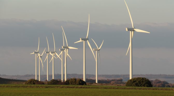 Wind energy in Spain, new Enel wind farm in Burgos