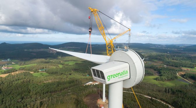 Wind power in Galicia, Greenalia starts its first wind farm in Vimianzo (A Coruña)
