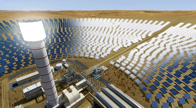 World's tallest Concentrated Solar Power tower completed in Dubai