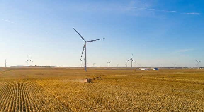 Whitney Hill wind farm start producing wind energy in Illinois