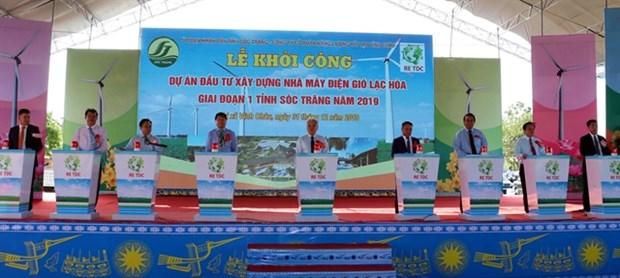 Work begins on wind power plant in Soc Trang