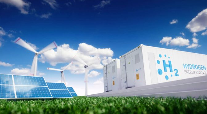 Hydrogen from wind energy and solar power, the future