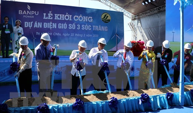 Construction of wind power plant begins in Vietnamese province of Soc Trang